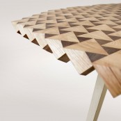 Unique Atlas Dining Table From Ankled Oak Blocks