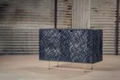 Unique Black Scars Cabinet From Oxidized Oak