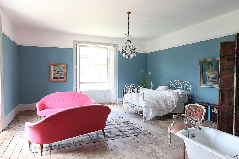 Picture Of unique british home in a mix of styles and colors  10