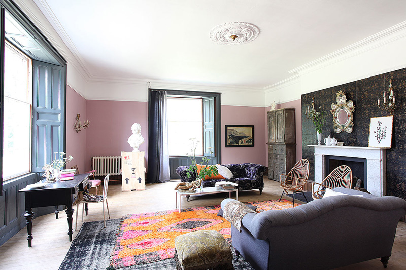 Picture Of unique british home in a mix of styles and colors  2