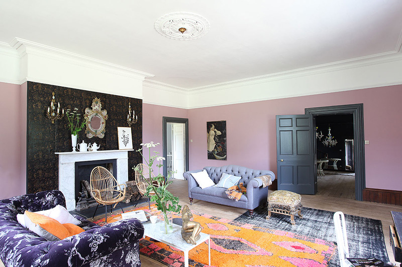 Picture Of unique british home in a mix of styles and colors  3