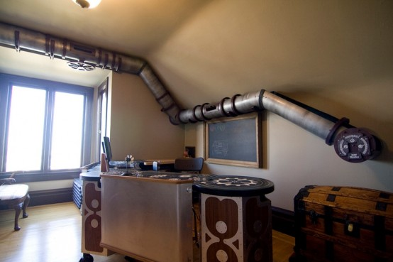 Unique Cat Tunnel In Steampunk Style