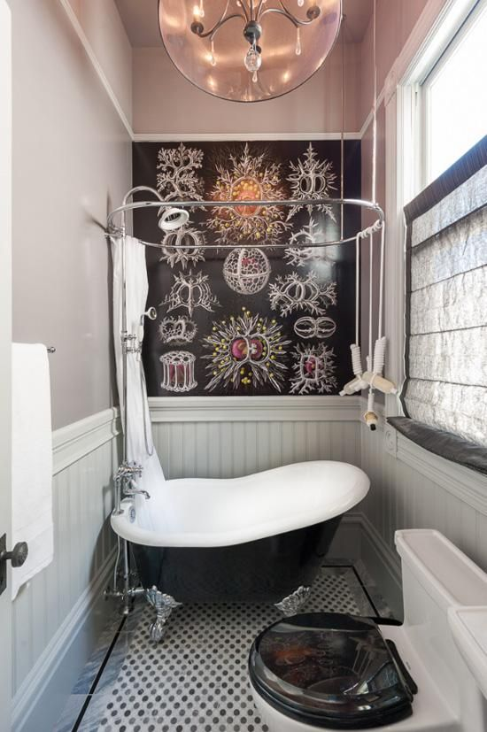 21 unconventional chalkboard bathroom d cor ideas digsdigs - Clever small bathroom designs ...