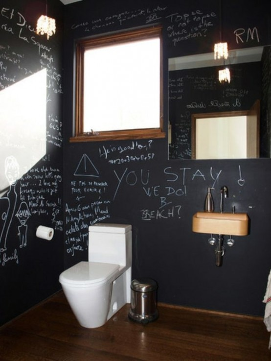 21 Unconventional Chalkboard Bathroom D Cor Ideas Digsdigs