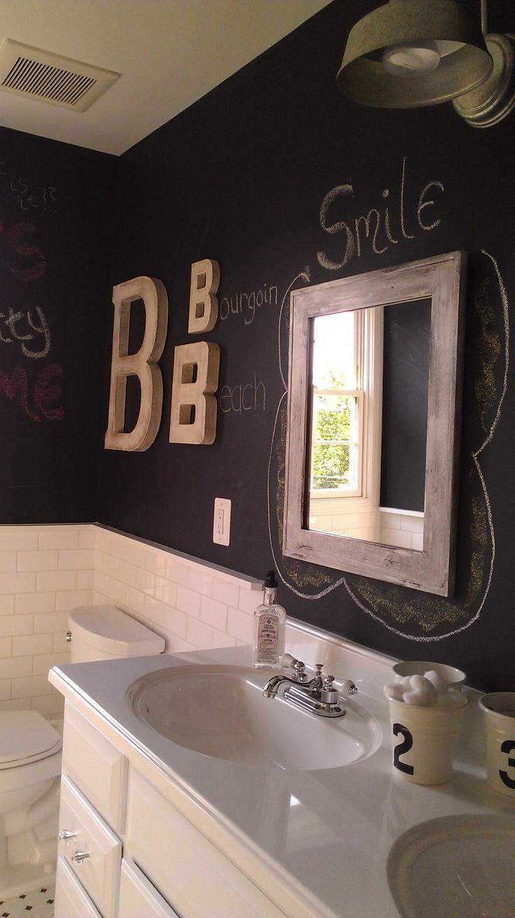 Unique Chalkboard Bathroom Decor Ideas
