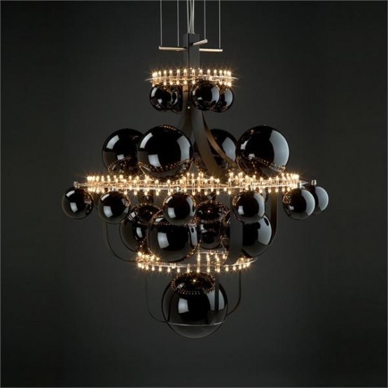 Stunning Unique Chandelier In The Shape Of Solar System