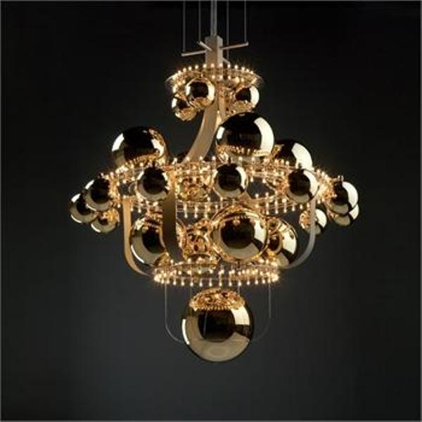 Unique Chandelier In The Shape Of Solar System