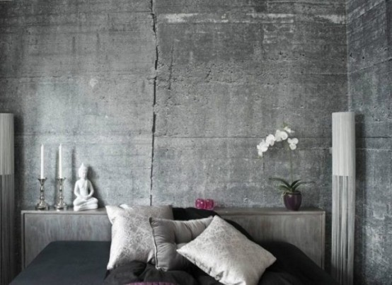 Unique Concrete-Imitating Wallpapers Collection