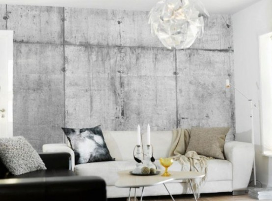 Unique Concrete Imitating Wallpaper Collection