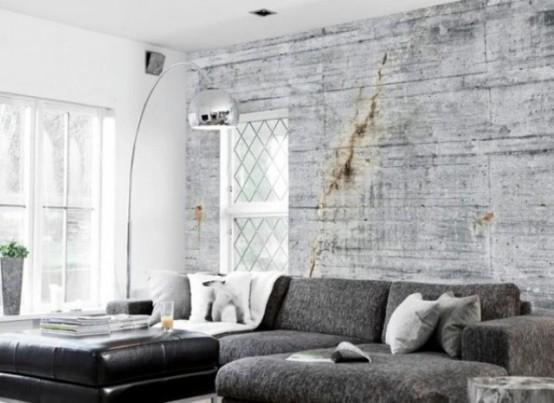 Unique Concrete Imitating Wallpaper Collection