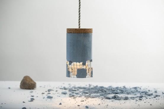 Unique Concrete Lamp That Makes You A Designer