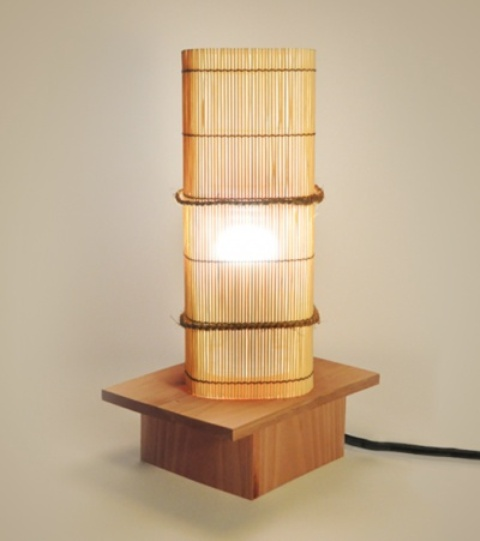 a simple bamboo light like this one on a stand will give an Asian or Japandi feel to your interior