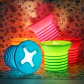 colorful screw table lamps will give a cheerful modern feel to any space and bring a bit of fun to it