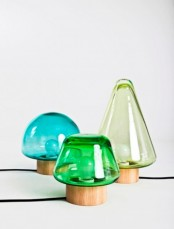 colorful glass mini table lamps are perfect for a contemporary or modern interior and will add color to it