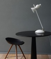 a fun white table lamp with a mini bird shape is a stylish and quirky idea suitable for a contemporary or minimalist space