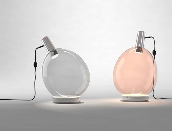unique balloon inspired table lamps in grey and blush are lovely and chic and will complete a modern space