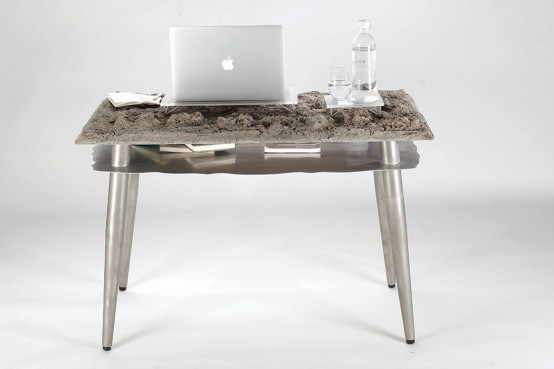 Unique Desk That Mimics Natural Landscape