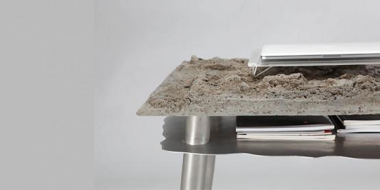 Unique Desk That Mimics Natural Landscape DigsDigs