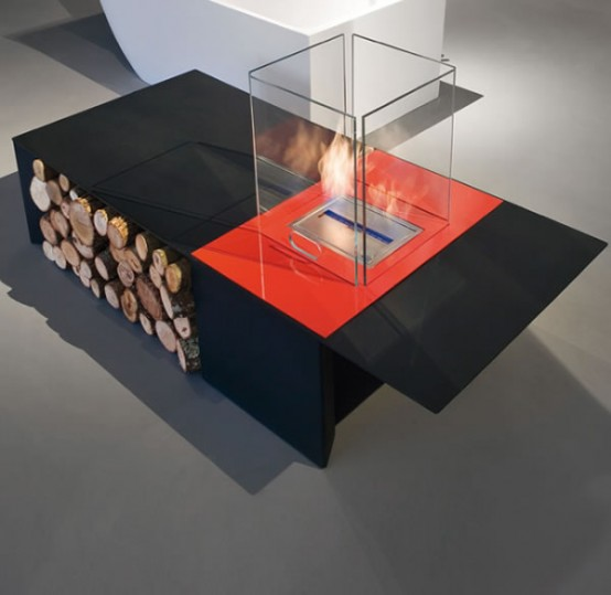 Unique Minimalist Drago Fireplace: The Beauty Of Pure Fire