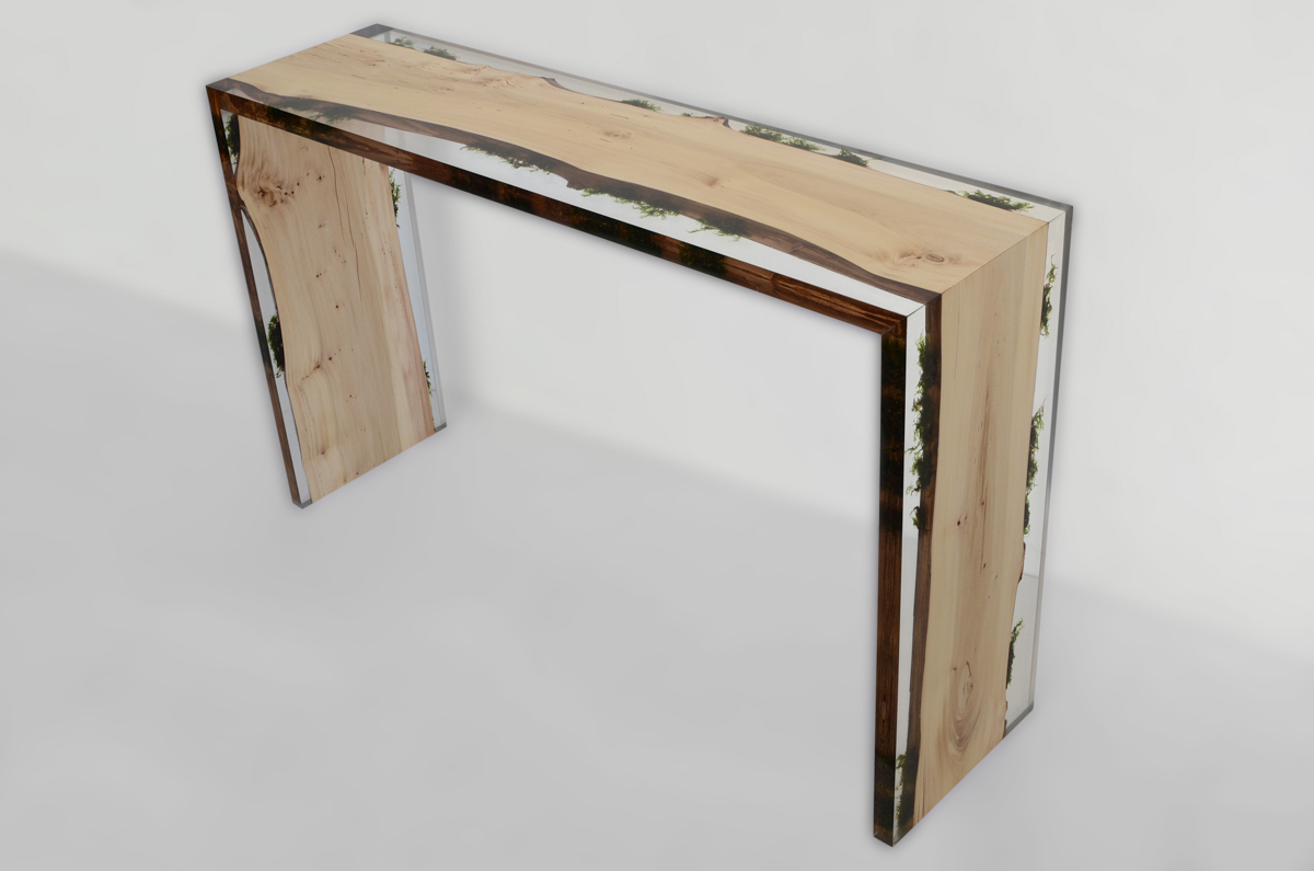 Picture Of unique furniture made of real wood and stones  1