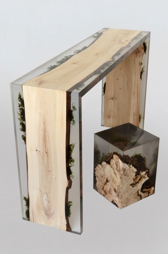 Unique Furniture Made Of Real Wood And Stones Digsdigs