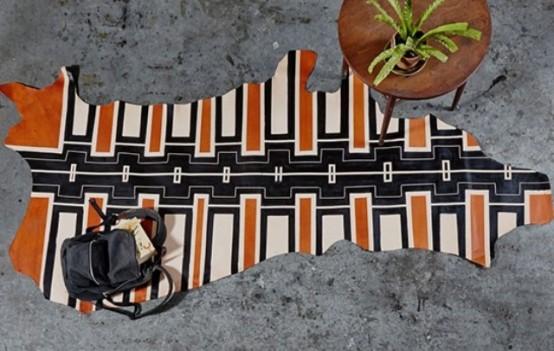 Unique Handmade Painted Plains Rug Collection
