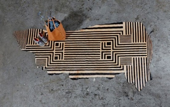 Unique Handmade Painted Plains Rug Collection