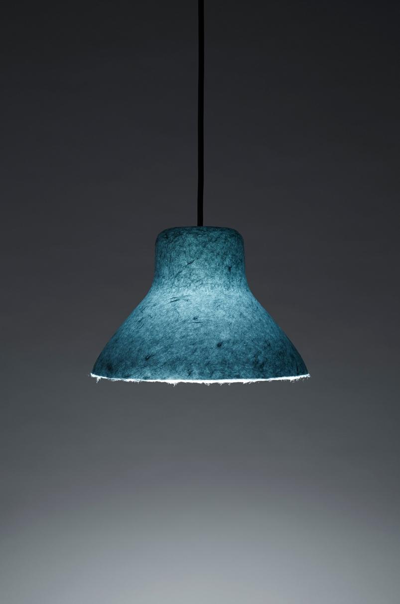 Unique Industrial Bi-Color Washi Lamps By Nendo