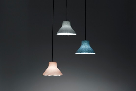 Unique Industrial Bi Color Washi Lamps By Nendo