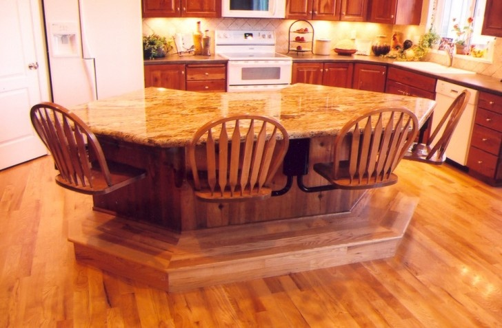 picture of unique kitchen island designs