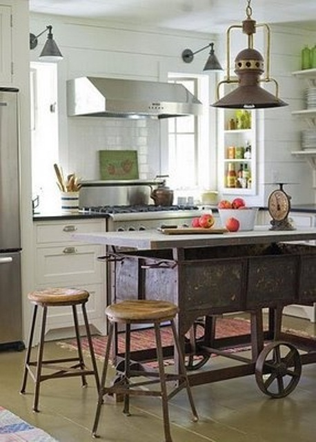 64 unique kitchen island designs digsdigs. Black Bedroom Furniture Sets. Home Design Ideas