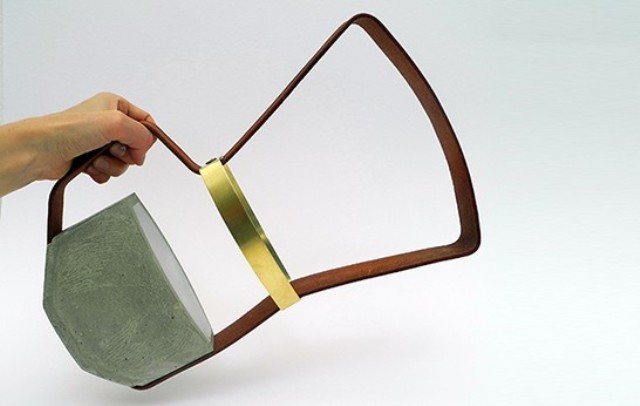Unique Lanterns: Nomadic Lamps From Leather And Concrete