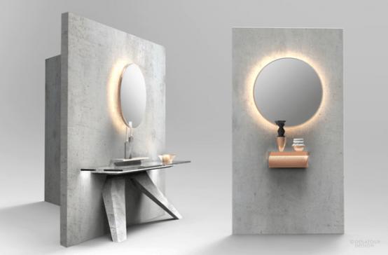 Unique Lightweight Concrete Furniture Collection