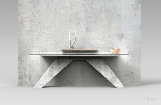 Picture Of unique lightweight concrete furniture collection  8