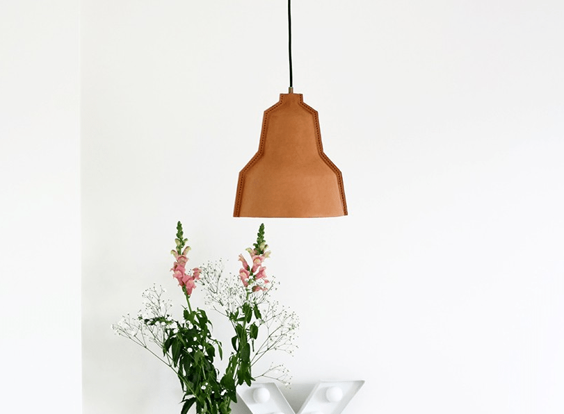 Unique Lloyd Handmade Leather Lamp