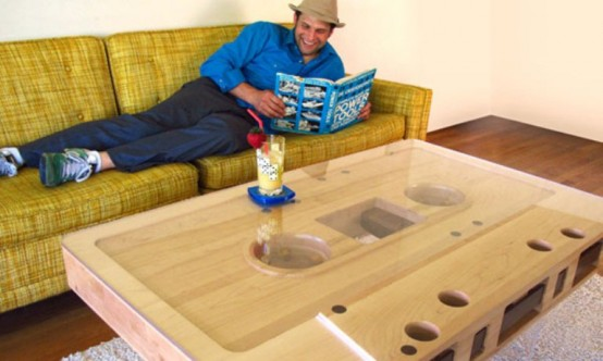 Unique Mixtape Coffee Table