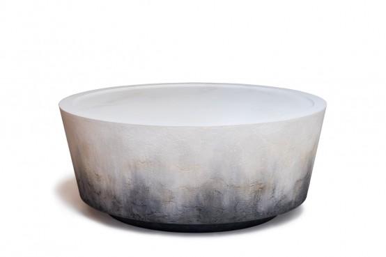 Unique Nim Table Inspired By Lava Strata And Stone