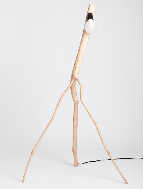 Unique Oak Branch Lamps Reminding Unusual Creatures