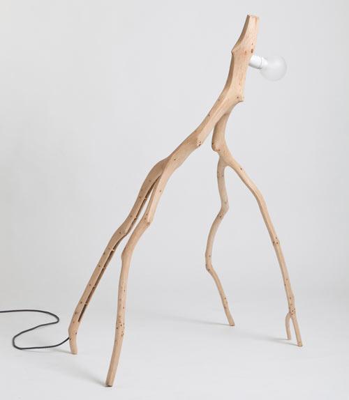 Unique Oak Branch Lamps Reminding Unusual Creatures
