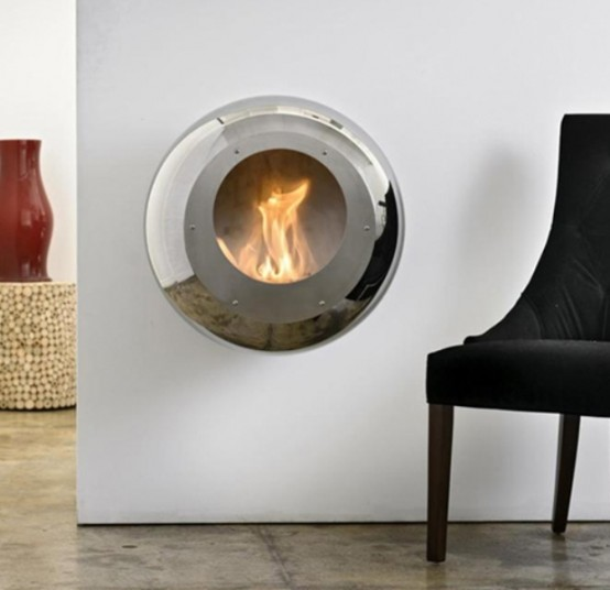 Unique Round Fireplace To Make Your Space Cozy - DigsDigs