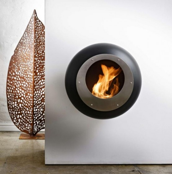 Unique Round Fireplace To Make Your Space Cozy