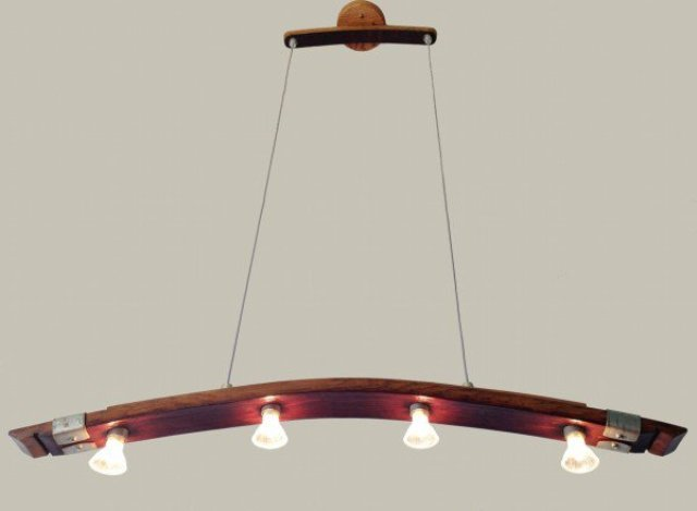 Unique Saba Light From Recycled Wine Barrels