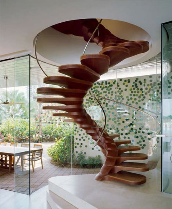 21 Most Unique Wood Home Decor Ideas: 10 The Most Cool Spiral Staircase Designs