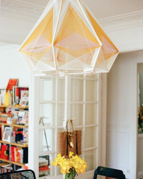 Unique Sputnik Lamps Of Wood And Cotton