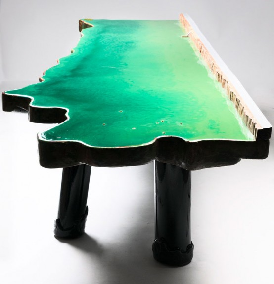 Unique Tables Imitating Different Water Bodies