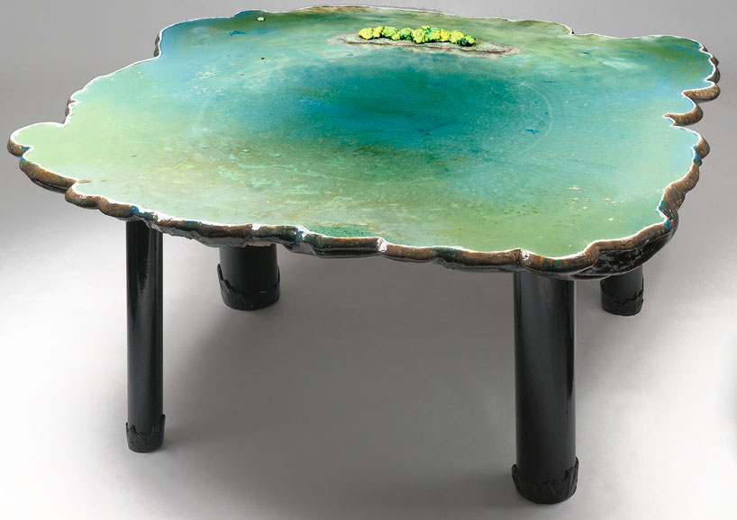 Unique tables imitating different water bodies digsdigs for Unusual tables