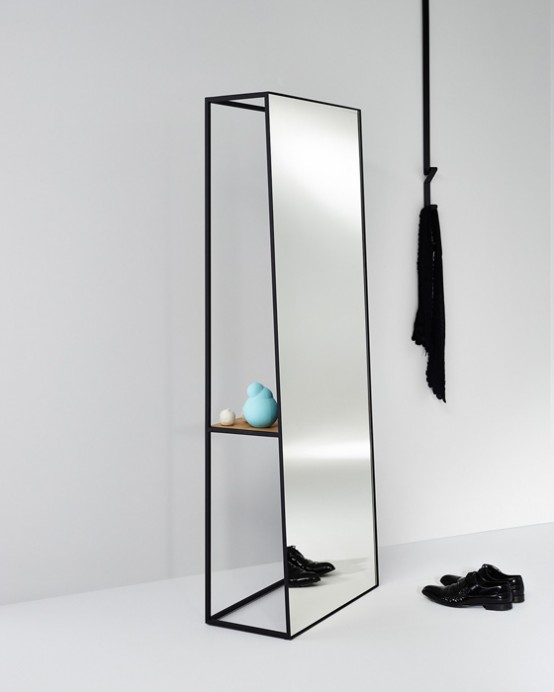 Unique Voluminous Chassis Mirrors With Shelves