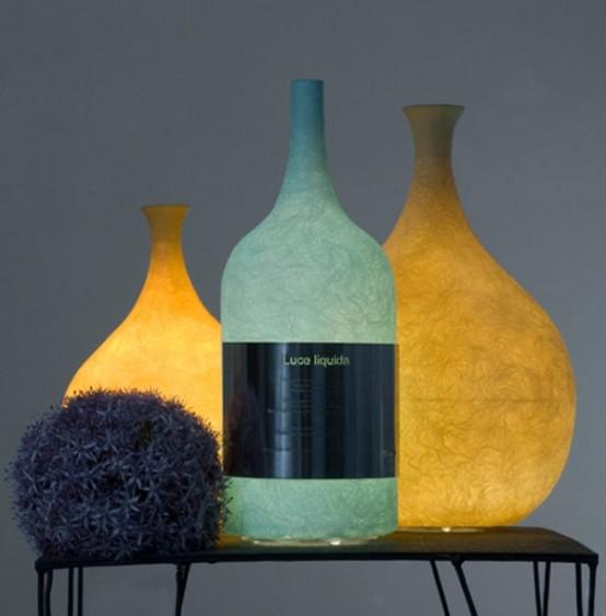 Unique Wine Bottle Lamp