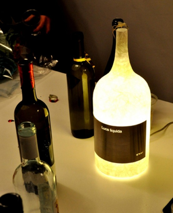 Unique Wine Bottle Lamp