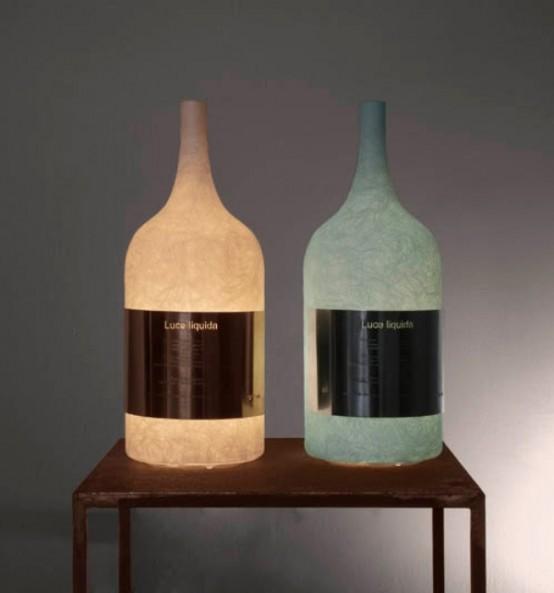 Unique Wine Bottle Lamp Digsdigs